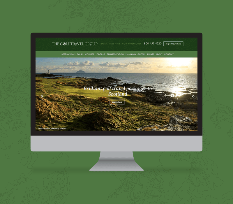 The Golf Travel Group website