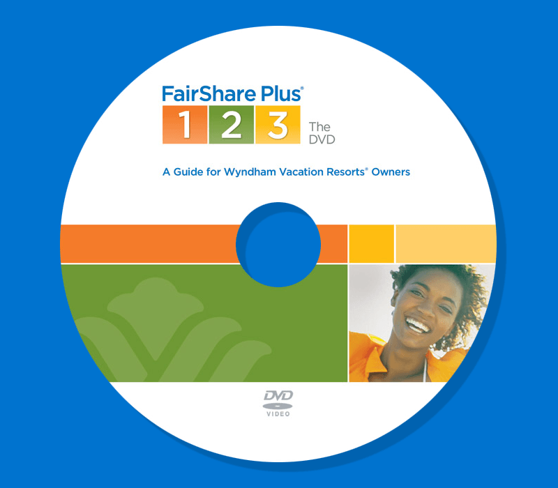 DVD Label for FairShare Plus® 1–2–3 Program